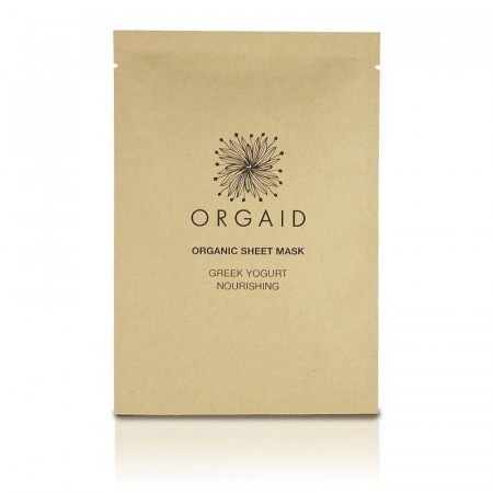 ORGAID Greek Yogurt & Nourishing Organic Sheet Mask (1 stk.)