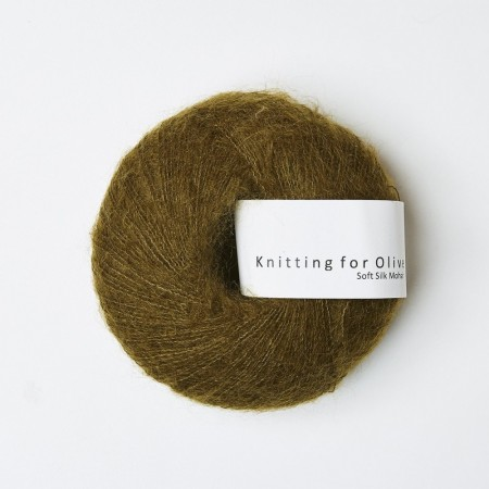 Soft silk mohair - Kobbergrøn, knitting for olive ( 2 nøster igjen)
