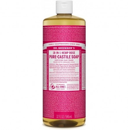 Dr. bronner Pure-Castile Liquid Soap Rose 475 ml - utsolgt