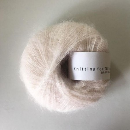 Soft silk mohair - Sky, knitting for olive