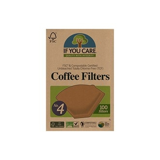 If You Care Ubleket og klorfrie Kaffefilter (nr.4)