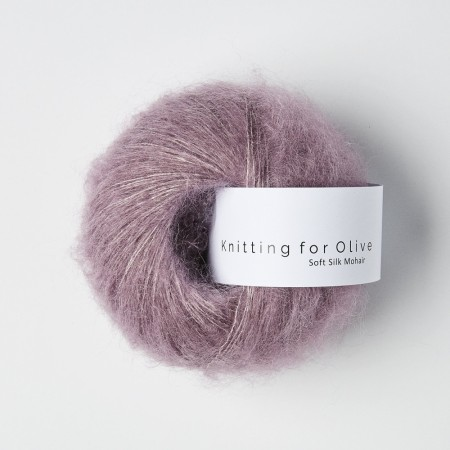 "Soft silk mohair ""artiskoklilla"", knitting for olive ( 1 nøste igjen)"