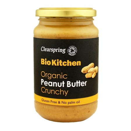 Clearspring peanut butter crunchy 350 gr