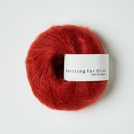 Soft silk mohair - GRANATÆBLE