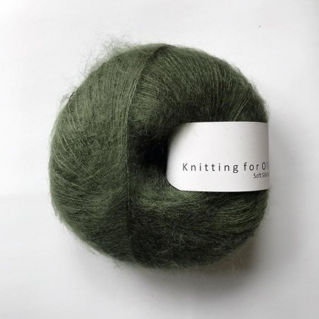 Soft silk mohair - Flaskegrøn, knitting for olive