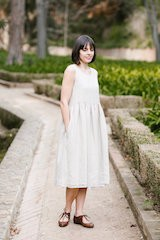 Smock Dress, Sleeveless Natural Linen