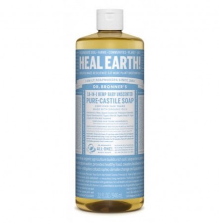 Dr.Bronner PURE-CASTILE LIQUID SOAP baby/unsented 475 ml
