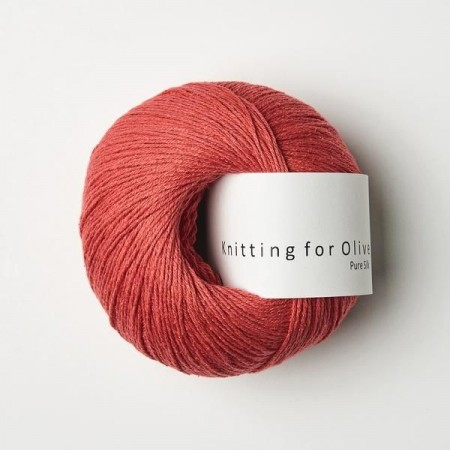 Pure Silk - vandmelon, Knitting for Olive