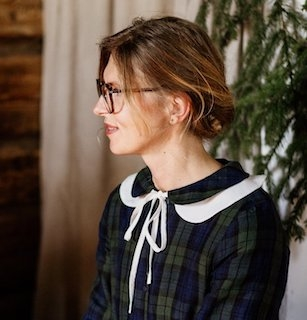"""Peter Pan collar large"", hvit løskrage i lin, son de flor"