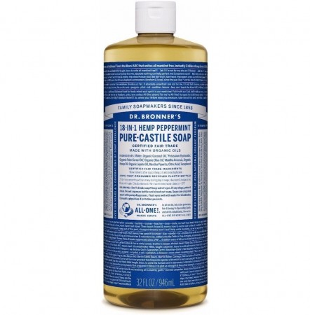 Dr. Bronner PURE-CASTILE LIQUID SOAP peppermynte 475 ml