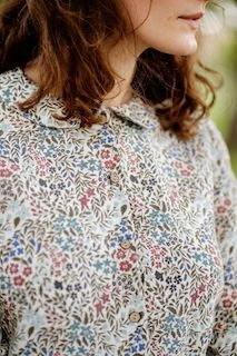 Peter Pan Collar Shirt, Wild Meadow
